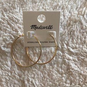 Gold madewell hoops